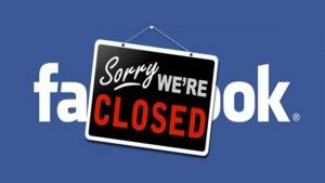 facebook chiuso