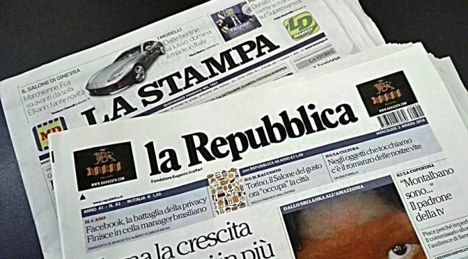 Fusione Stampa-Repubblica: livelli occupazionali e pluralismo i punti deboli