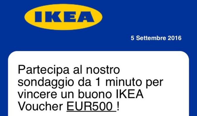 La truffa dello sconto di 500 euro a IKEA corre su WhatsApp