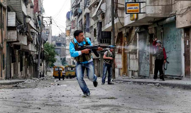 Syria, Aleppo  One of the many front lines located in the city of Aleppo PH © Andreja Restek / APR NEWS Aleppo, Syria