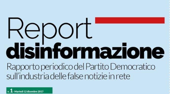 Ecco cosa dice il Report del PD sulle Fake News