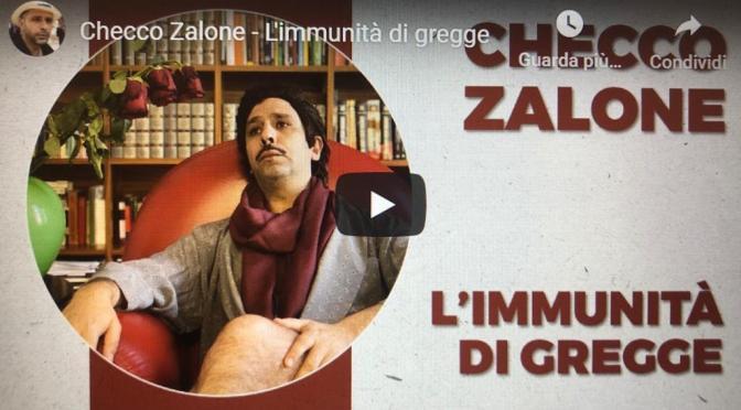 """Il nuovo tormentone di Checco Zalone, """"L'immunità di gregge"""""""