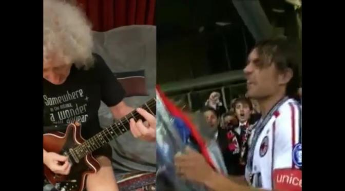 "Contest di Brian May  ""We are the Champions"", la versione milanista"