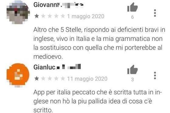 La figuraccia dell'italiota: vuole scaricare Immuni, ma sbaglia app
